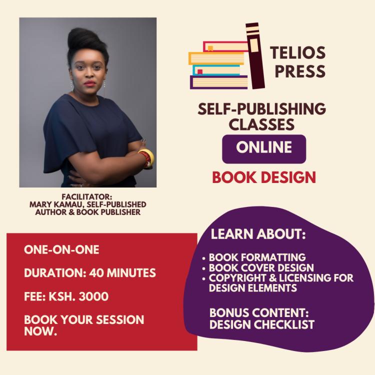 Telios Press Book Design Training For Authors