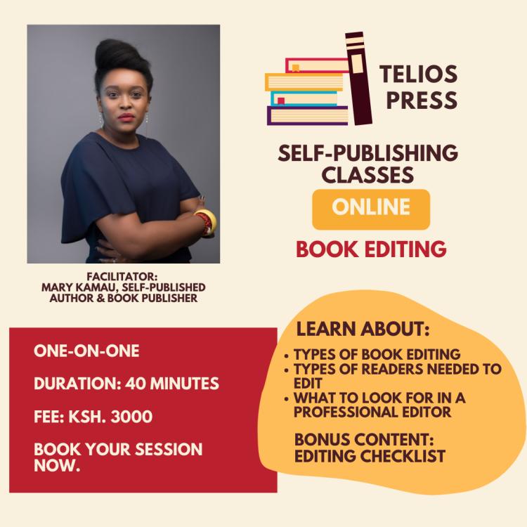 Telios Press Book Editing Training For Authors