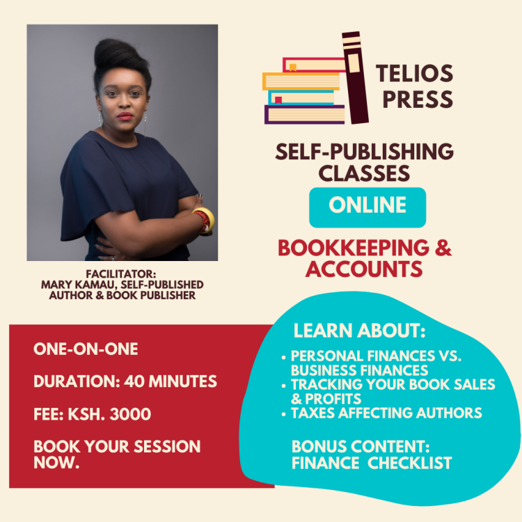 Telios Press Bookkeeping Training For Authors